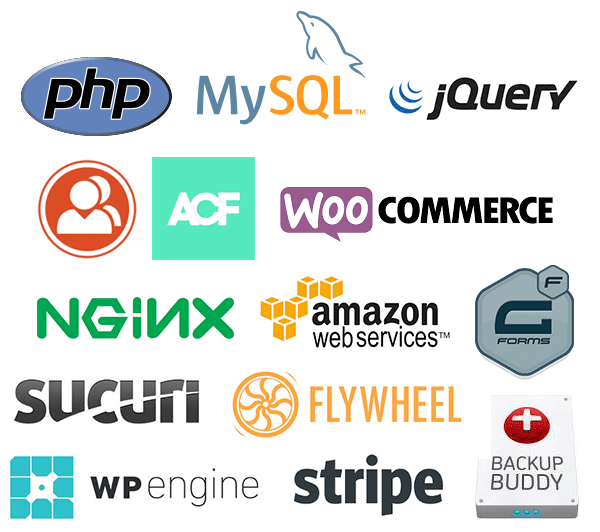 Web Development, Plugins, Hosts, Web Servers, Payment Systems