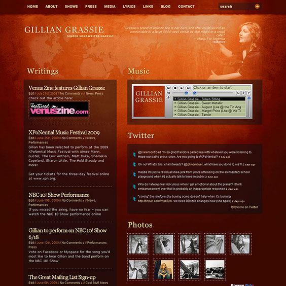 Gillian Grassie - Web Design & Development
