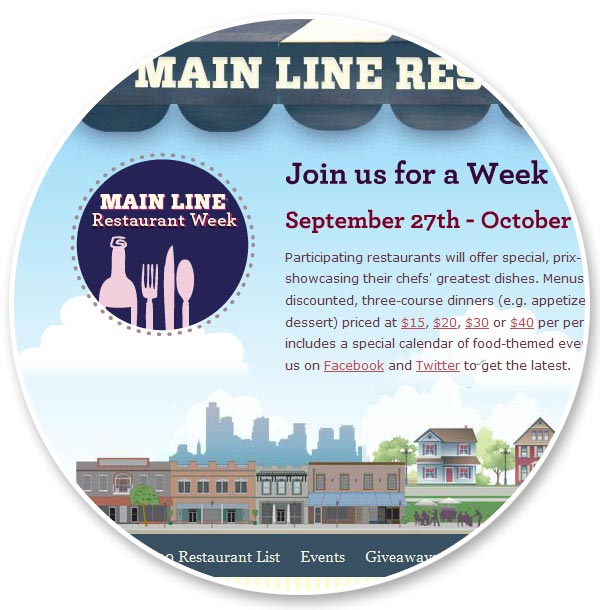 Main Line Restaurant Week Web Design