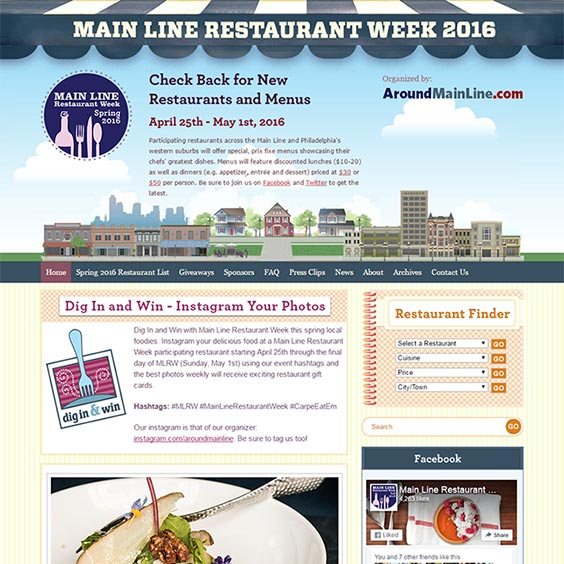 Main Line Restaurant Week Web Design & Development