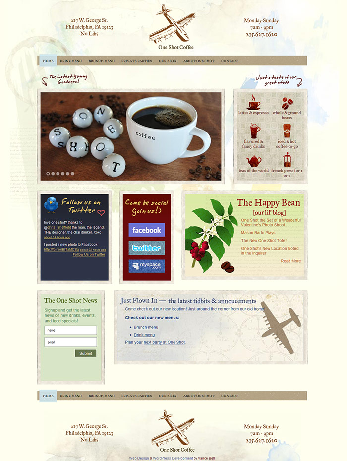 One Shot Coffee - Web Design & Development