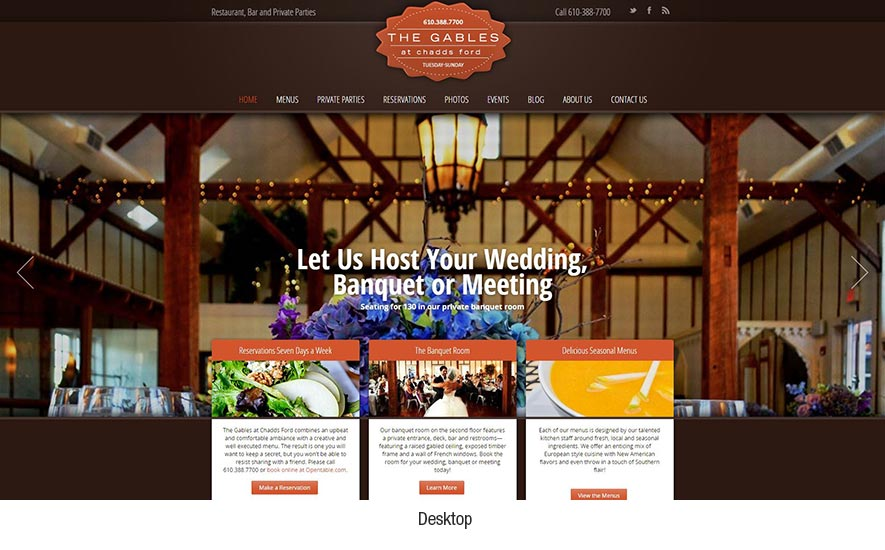 Responsive Web Design - The Gables at Chadds Ford