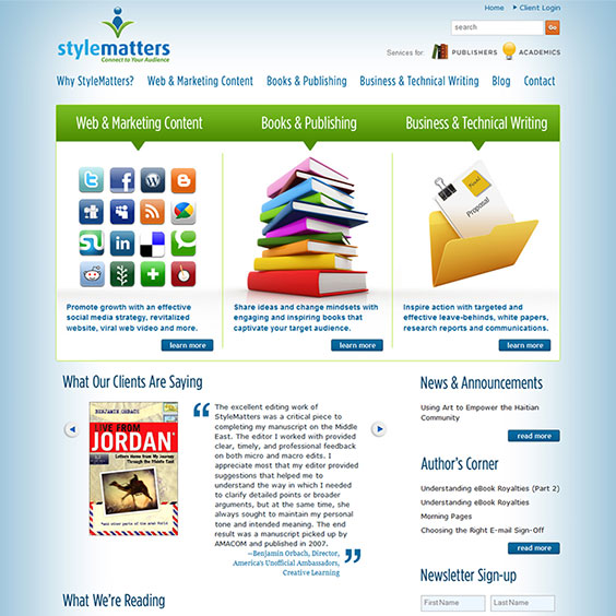 StyleMatters - Web Design & Development