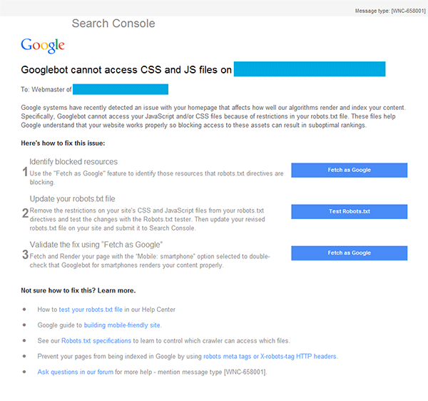 Fixing 'Googlebot Cannot Access CSS and JS Files' Issues